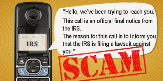 IRS Lawsuit Phone Scam - It Happened To Us! - We Hate Malware