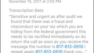 Photo of Another IRS Scam Is Making The Rounds